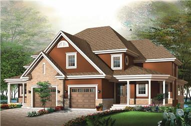 3-Bedroom, 3192 Sq Ft Craftsman Home Plan - 126-1809 - Main Exterior