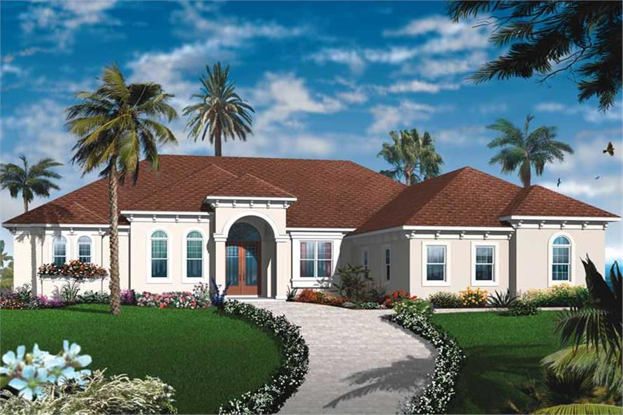 Mediterranean, Bungalow House Plans - Home Design Dd-3255 # 19990