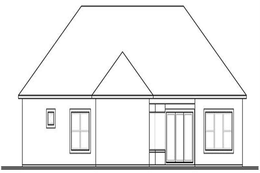 Home Plan Rear Elevation of this 1-Bedroom,2901 Sq Ft Plan -126-1811