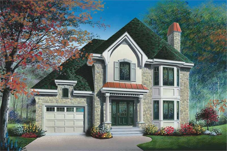 3-Bedroom, 1613 Sq Ft Contemporary Home Plan - 126-1817 - Main Exterior