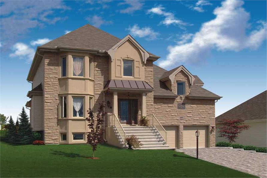 HOME PLAN FRONT ELEVATION of this 3-Bedroom,1613 Sq Ft Plan -1613