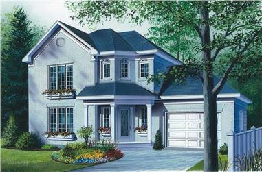 3-Bedroom, 1404 Sq Ft Contemporary Home Plan - 126-1825 - Main Exterior