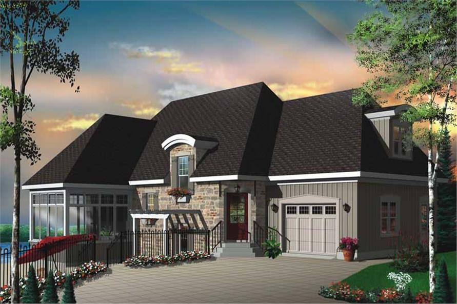 Home Plan Front Elevation of this 3-Bedroom,3411 Sq Ft Plan -126-1827