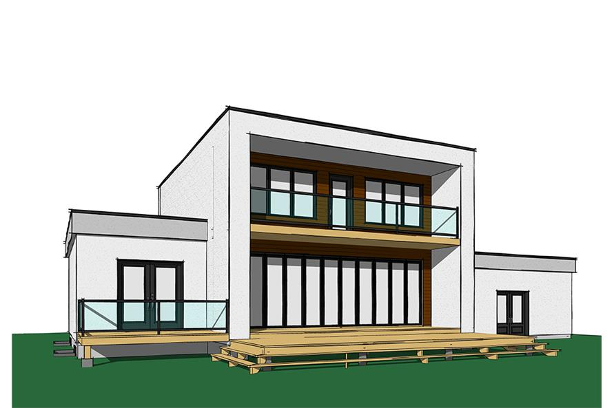 Home Plan Rendering of this 4-Bedroom,2142 Sq Ft Plan -2142