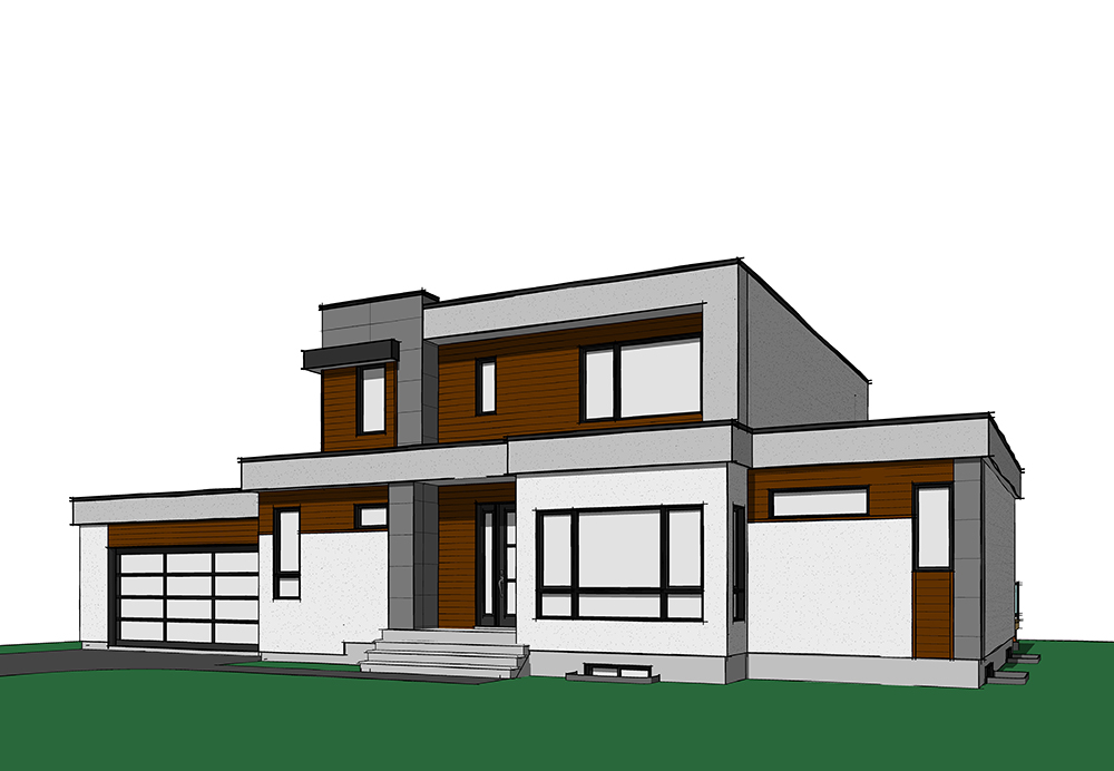 4 bedrm 2142 sq ft contemporary house plan 126 1830 for Plan collection modern house plans