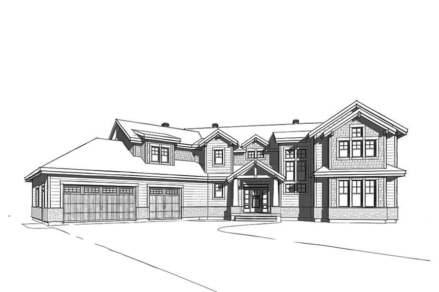 Home Plan Rendering of this 5-Bedroom,3753 Sq Ft Plan -3753