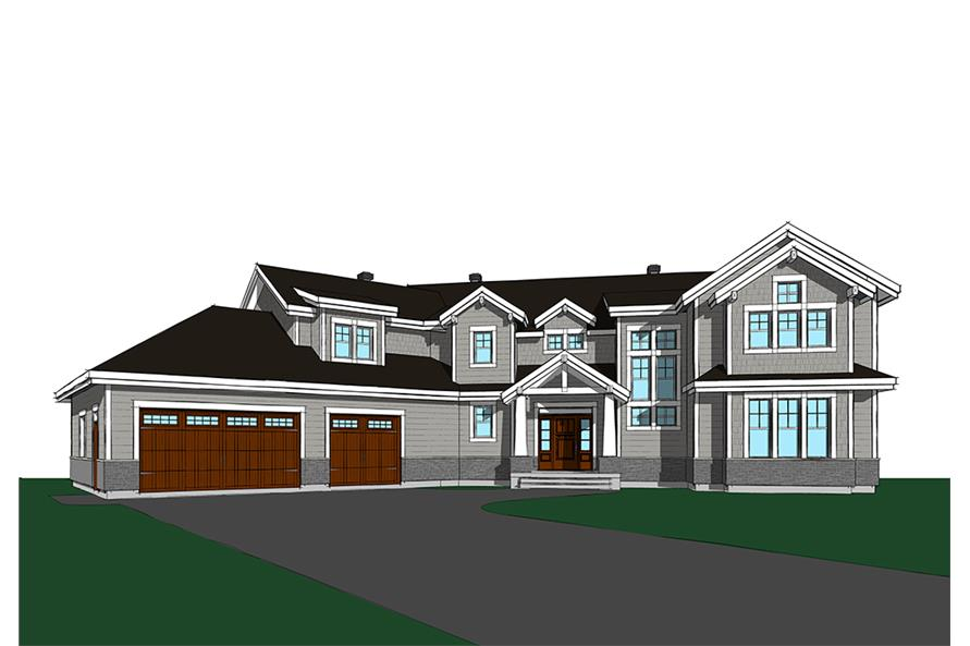 5-Bedroom, 3753 Sq Ft Traditional House Plan - 126-1831 - Front Exterior