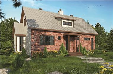 3-Bedroom, 1587 Sq Ft Transitional House - Plan #126-1833 - Front Exterior