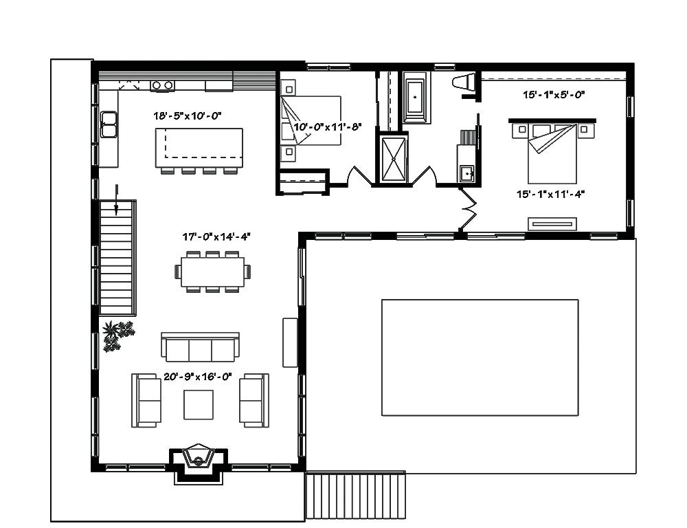 Multi unit house plan 126 1834 3 bedrm 2808 total sq ft for Multi unit house plans