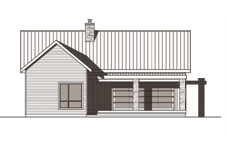 126-1836: Home Plan Rear Elevation