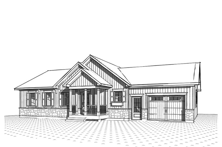 Home Plan 3D Image of this 2-Bedroom,1443 Sq Ft Plan -1443