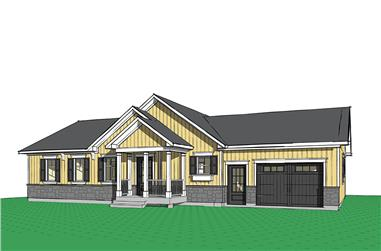 Front elevation of Ranch home (ThePlanCollection: House Plan #126-1843)