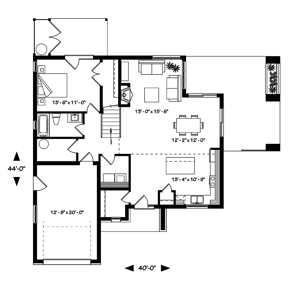 4 bedrm 1944 sq ft contemporary house plan 126 1849 for 126 simcoe floor plan