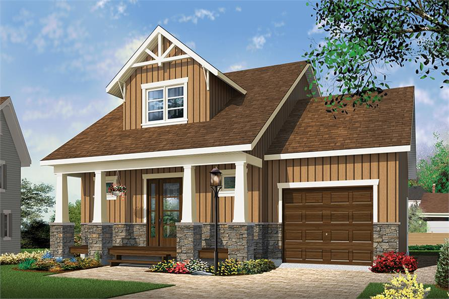 2 Bedrm 900 Sq Ft Craftsman House Plan 126 1852
