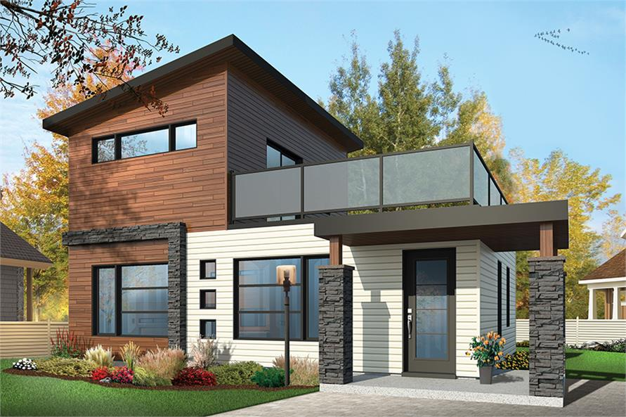 . 2 Bedrm  924 Sq Ft Contemporary House Plan  126 1853
