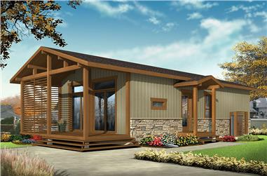 2-Bedroom, 700 Sq Ft Cottage House Plan - 126-1855 - Front Exterior