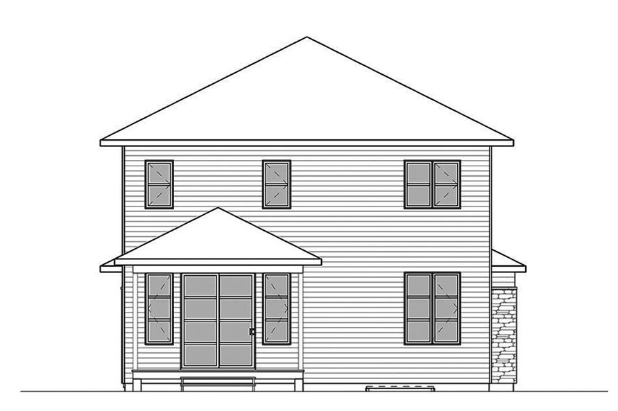 Home Plan Rear Elevation of this 3-Bedroom,2288 Sq Ft Plan -126-1857