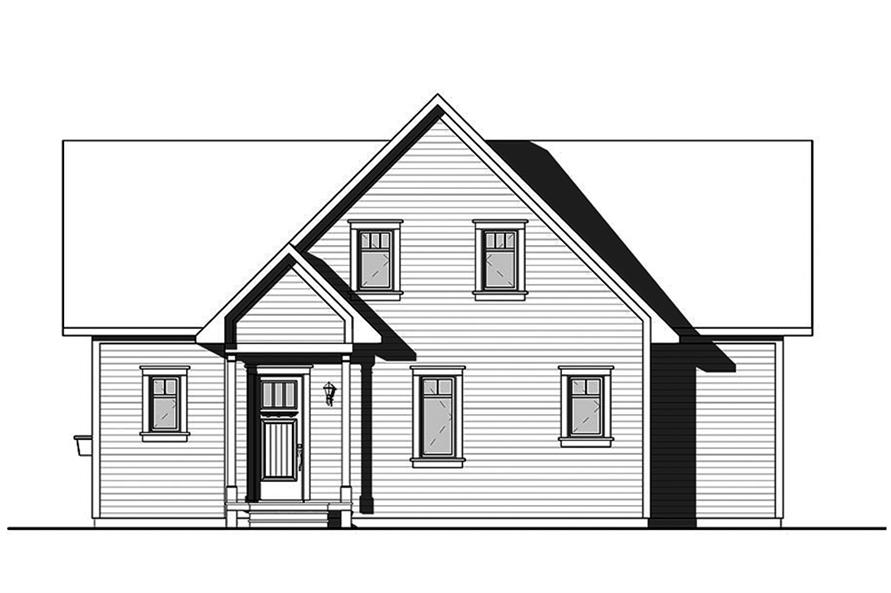 Home Plan Rear Elevation of this 4-Bedroom,2105 Sq Ft Plan -126-1858