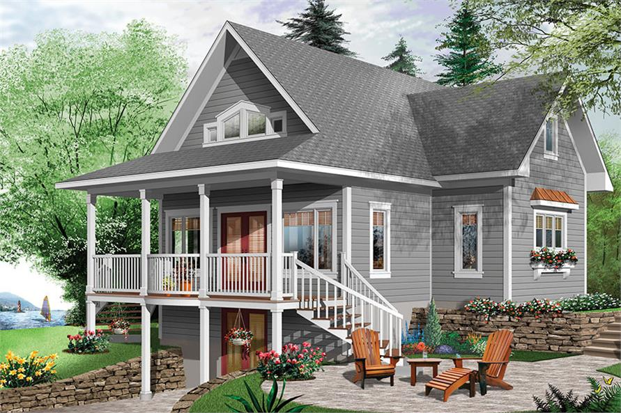 4-Bedroom, 2105 Sq Ft Cottage Home Plan - 126-1858 - Main Exterior