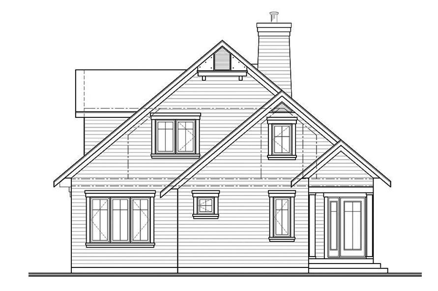Home Plan Rear Elevation of this 4-Bedroom,1811 Sq Ft Plan -126-1859