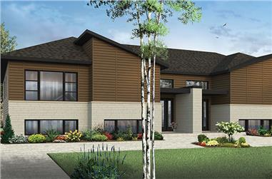 3-Bedroom, 4784 Sq Ft Multi-Unit House Plan - 126-1861 - Front Exterior