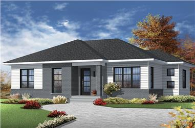 2-Bedroom, 1133 Sq Ft Ranch Home Plan - 126-1865 - Main Exterior