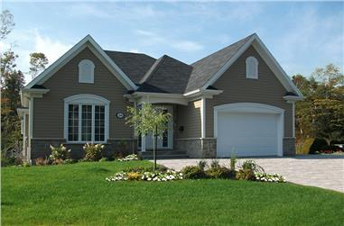 2-Bedroom, 1124 Sq Ft Bungalow House Plan - 126-1872 - Front Exterior