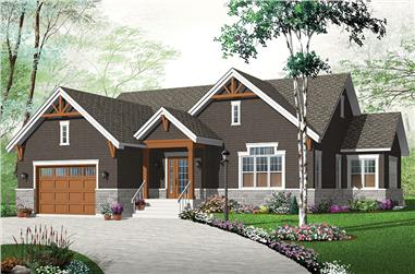 3-Bedroom, 1783 Sq Ft Craftsman Home Plan - 126-1873 - Main Exterior
