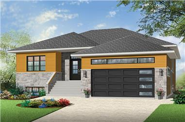 2-Bedroom, 1600 Sq Ft Prairie Home Plan - 126-1874 - Main Exterior