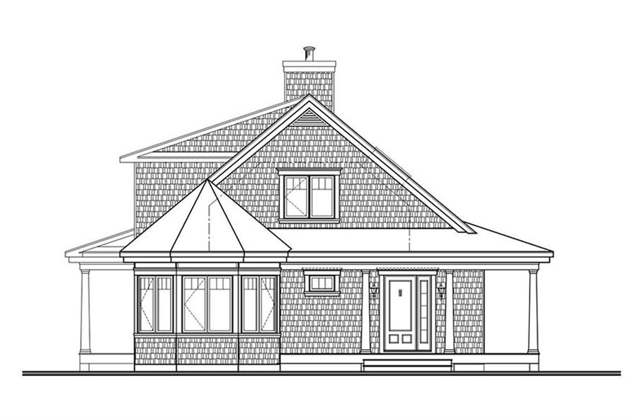 Home Plan Rear Elevation of this 4-Bedroom,1857 Sq Ft Plan -126-1876