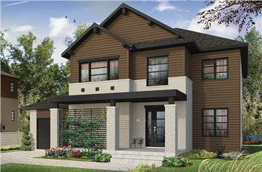 4-Bedroom, 2038 Sq Ft Colonial House Plan - 126-1882 - Front Exterior
