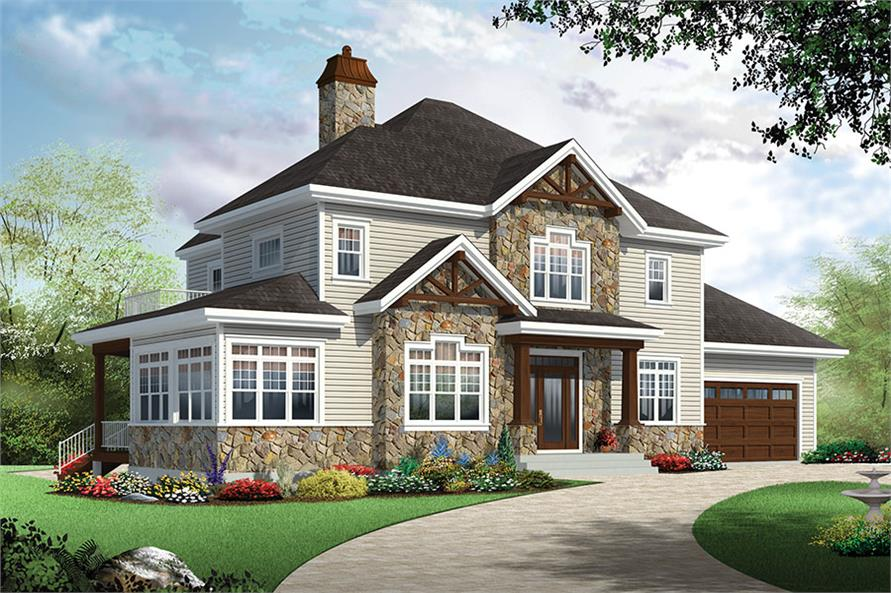 4 Bedrm 2521 Sq Ft Country House Plan 126 1884