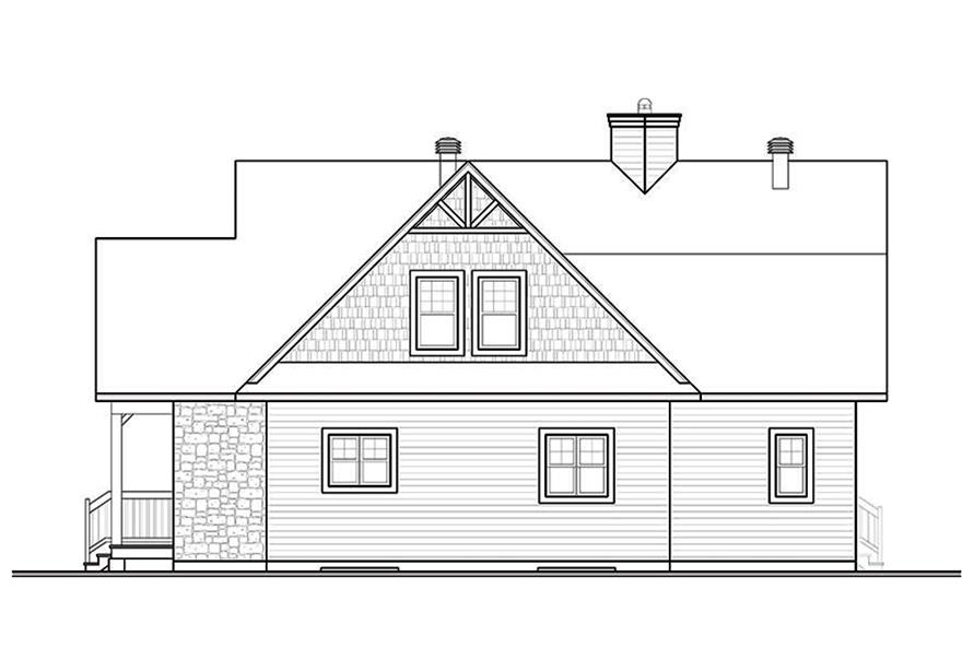 Home Plan Rear Elevation of this 4-Bedroom,2340 Sq Ft Plan -126-1888