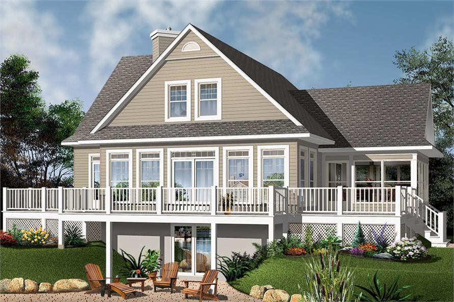 Home Plan Rendering of this 4-Bedroom,2416 Sq Ft Plan -2416