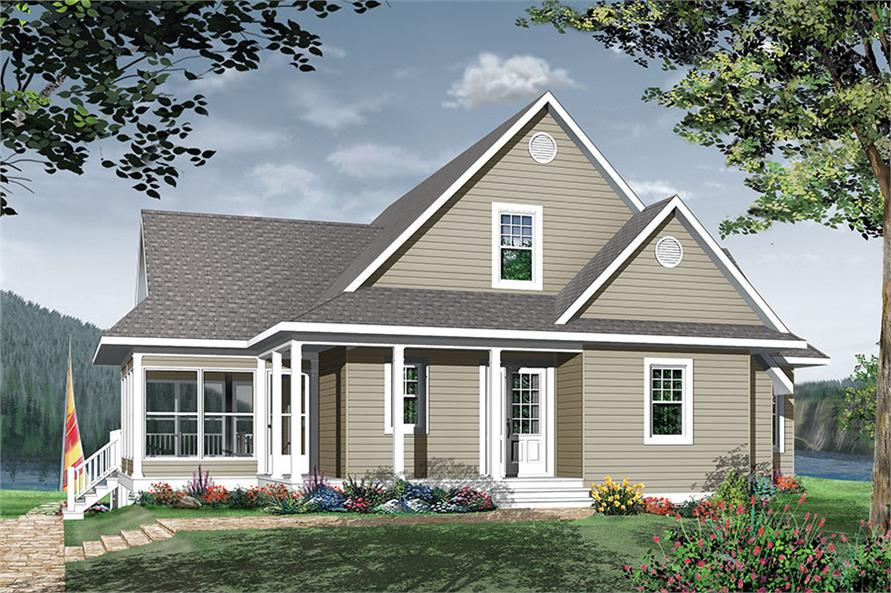 4-Bedroom, 2416 Sq Ft Country House Plan - 126-1889 - Front Exterior