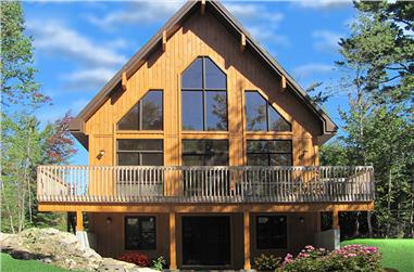 3-Bedroom, 1301 Sq Ft Vacation Home in A-Frame Style - Plan #126-1890 - Front Exterior