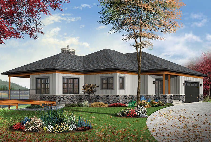 126 1891 Color rendering of Contemporary home