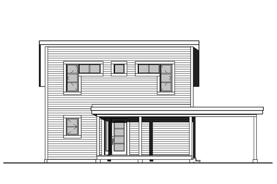Home Plan Front Elevation of this 2-Bedroom,1200 Sq Ft Plan -126-1892