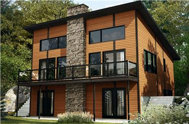 3-Bedroom, 1792 Sq Ft Contemporary Home Plan - 126-1893 - Main Exterior
