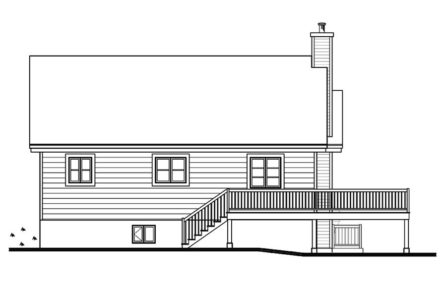 Home Plan Rear Elevation of this 3-Bedroom,2134 Sq Ft Plan -126-1895