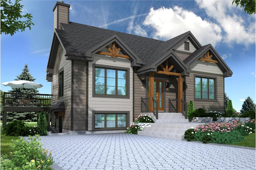 3-Bedroom, 2134 Sq Ft Country House Plan - 126-1895 - Front Exterior