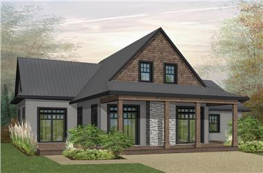 Front elevation of Cottage home (ThePlanCollection: House Plan #126-1898)