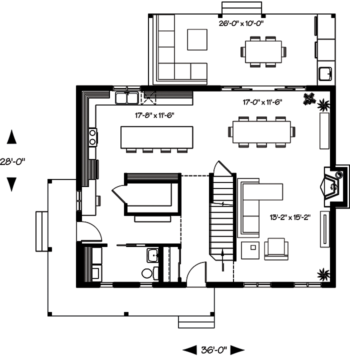 3 bedrm 1772 sq ft country house plan 126 1899 for 126 simcoe floor plan