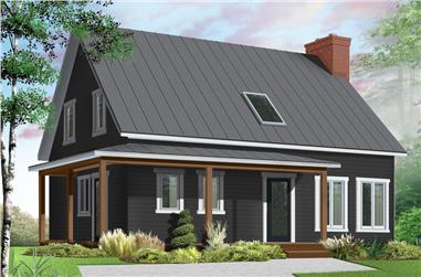 3-Bedroom, 1772 Sq Ft Country Home Plan - 126-1899 - Main Exterior
