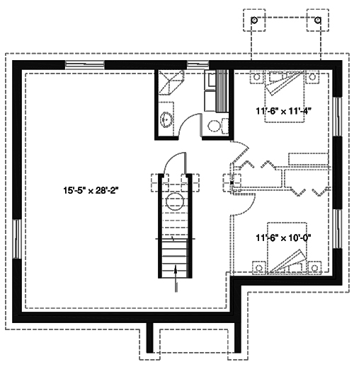 Country house plan 4 bedrms 2 baths 1102 sq ft 126 for 126 simcoe floor plan