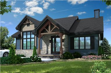2-Bedroom, 1102 Sq Ft Country House Plan - 126-1901 - Front Exterior