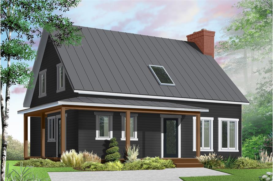 3-Bedroom, 1772 Sq Ft Country Home Plan - 126-1904 - Main Exterior