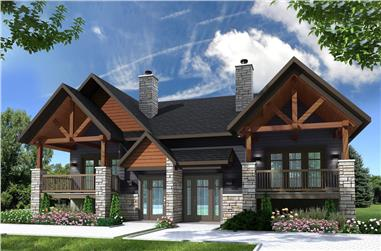 6-Bedroom, 3112 Sq Ft Contemporary House Plan - 126-1905 - Front Exterior