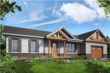 2-Bedroom, 998 Sq Ft Country House Plan - 126-1906 - Front Exterior