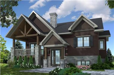 2-Bedroom, 1272 Sq Ft Contemporary House - Plan #126-1907 - Front Exterior